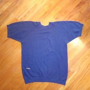 Wrangler🐎short sleeve sweatshirt VTG blue gold